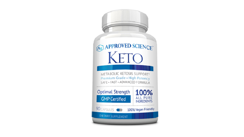 bottle of Approved Science Keto