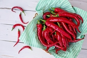 Photo of Fresh Cayenne Peppers