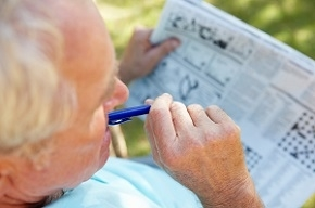 Cognitive Elderly with Newspaper