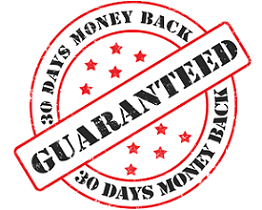 Seal of 30 Day Money Back Guarantee