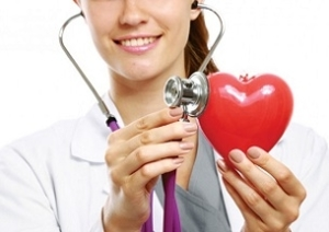 Doctor Holding Heart Figure